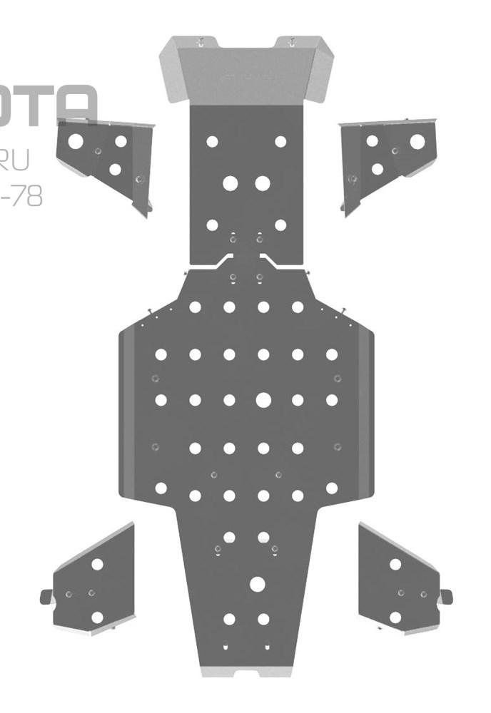Полный комплект (без защиты порогов), облегченная 3 мм - фото 7120