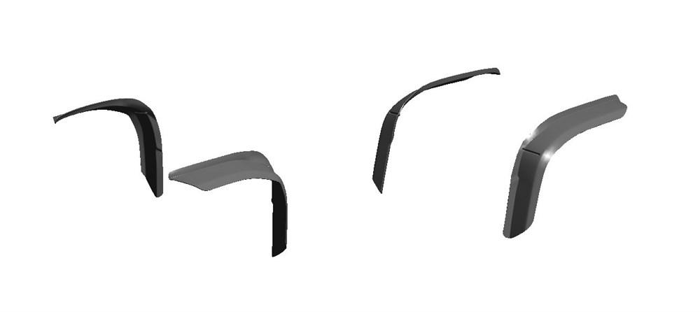 Расширители колесных арок - фото 7126