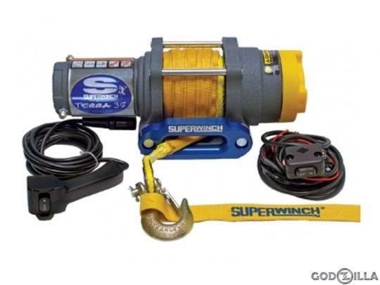 Лебедка электрическая для ATV Superwinch Terra35 с синтетическим тросом - фото 7330
